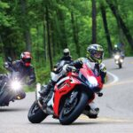 A group of riders on the Tail of the Dragon